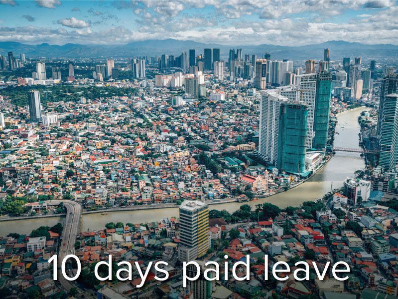 View over Makati Skyline, Metro Manila - Philippines