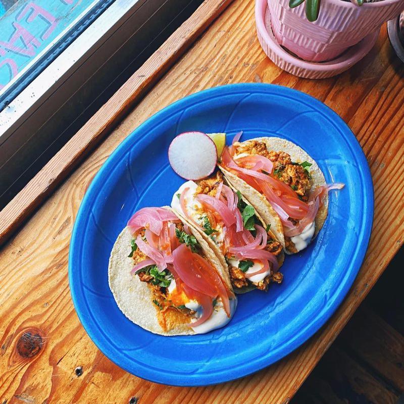 Chorizo tacos at ¿Por Qué No? Taqueria in Portland