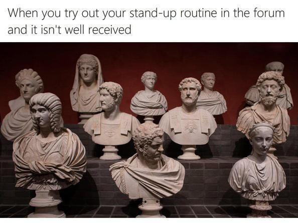 Ancient busts meme