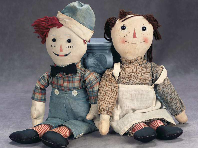 Volland Raggedy Ann and Andy Dolls