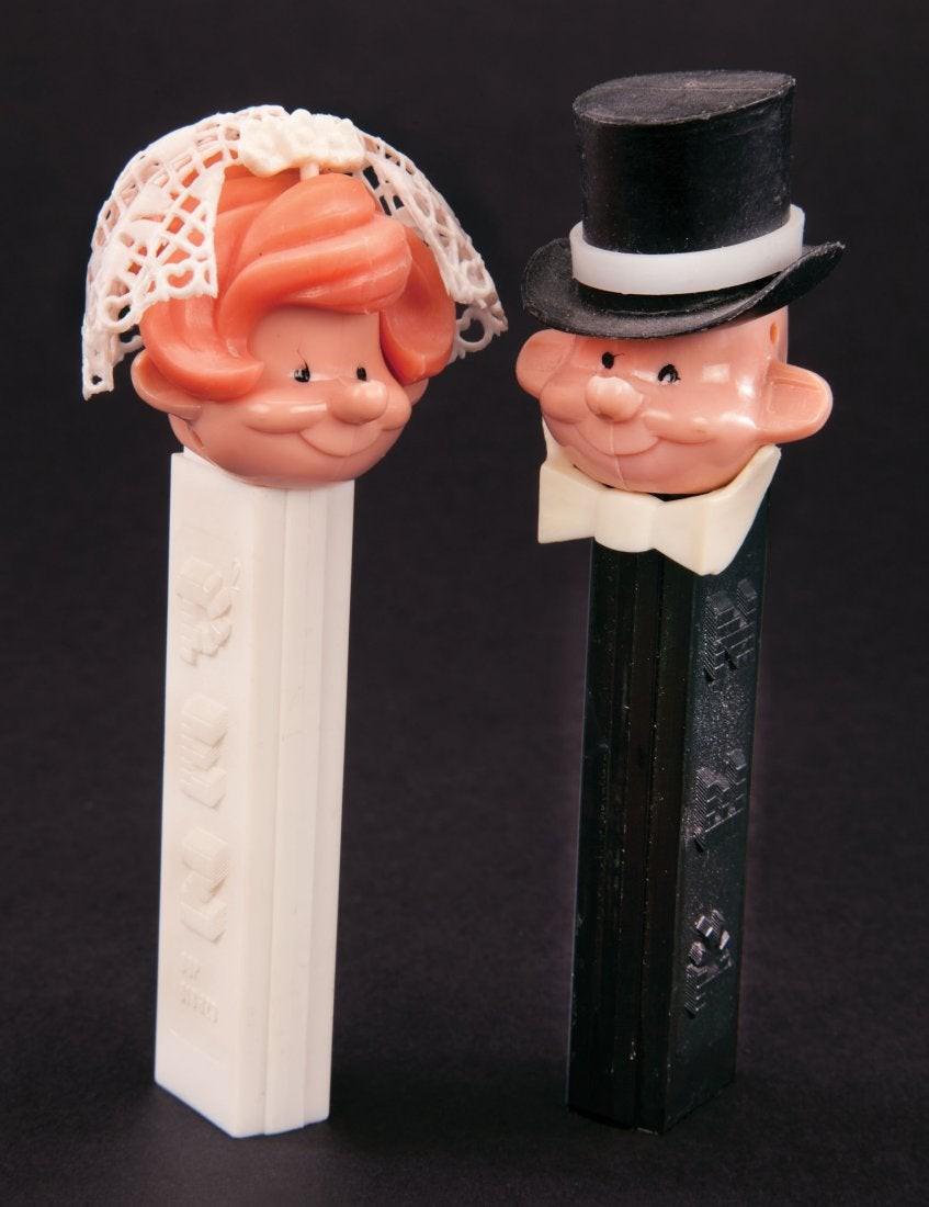 Bride and Groom Pez dispensers