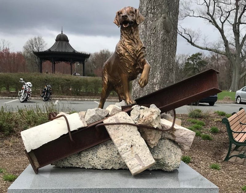 9/11 Dog Memorial Statue in New Jersey
