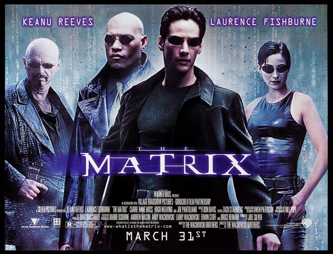 The Matrix Original Movie Subway Poster