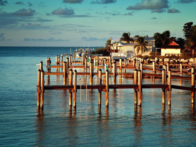 Pier in Isla Morada, Florida