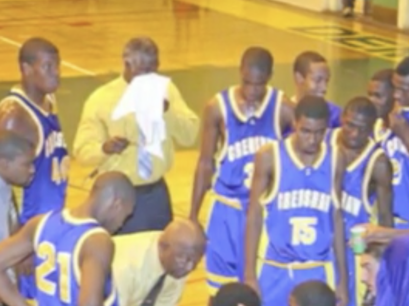 Willie West and Crenshaw basketball team