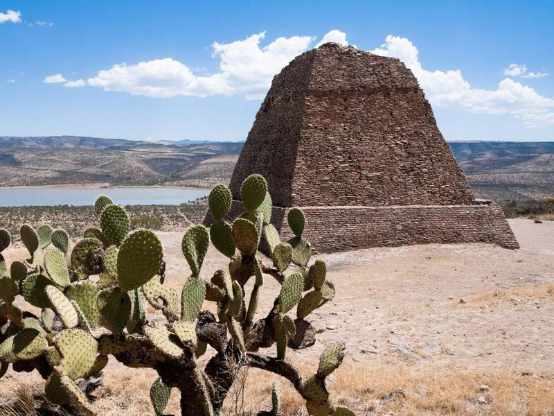 Votiva pyramid, Archaeological site of La Quemada (Mexico)