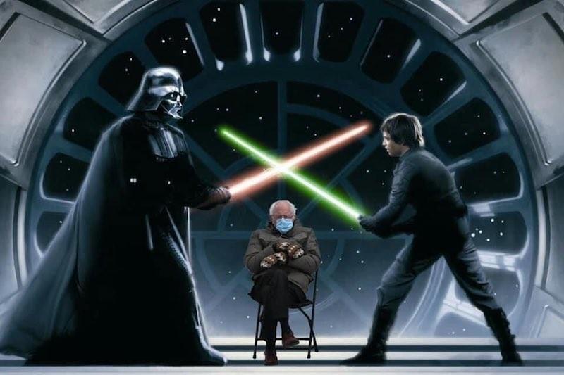 """Bernie Sanders, Darth Vader, Luke Skywalker in """"Star Wars"""""""