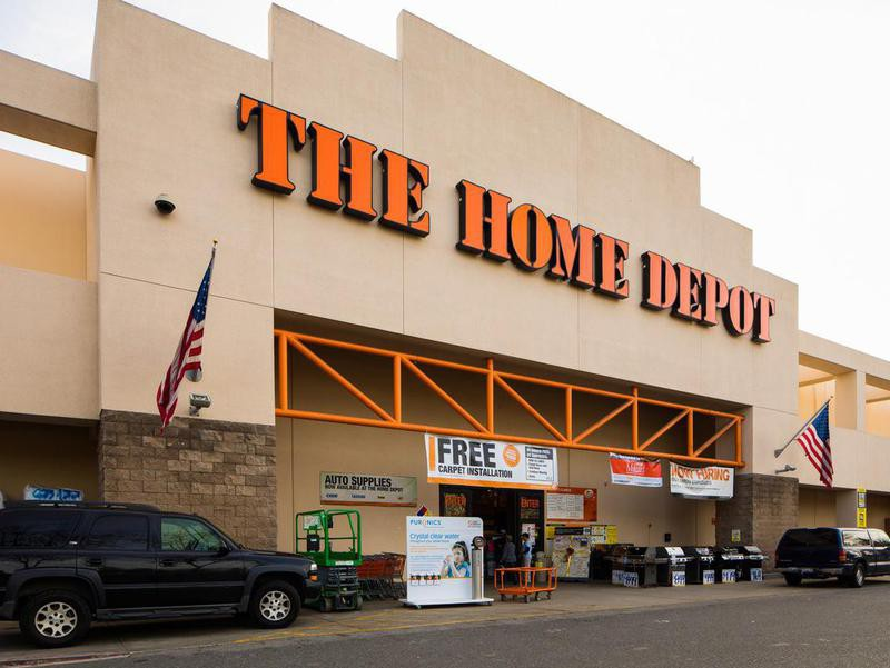 Home depot store entrance in Campbell, California