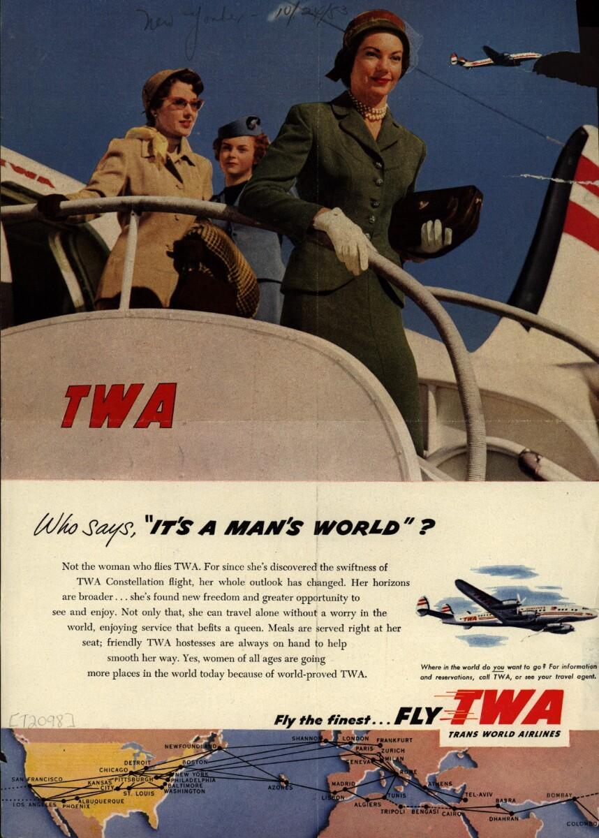 TWA vintage flight poster