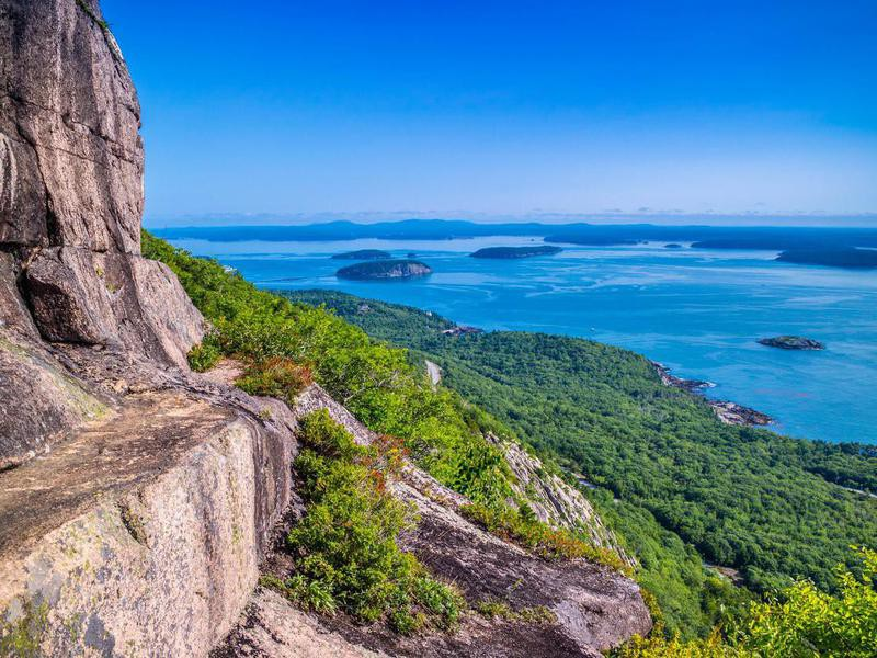 The Precipice Trail in Acadia National Park, Maine