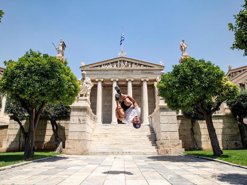 Stefan Dollinger performs in Athens