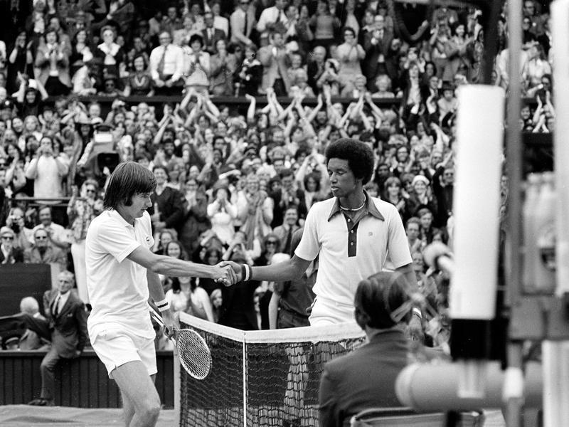 Jimmy Connors and Arthur Ashe