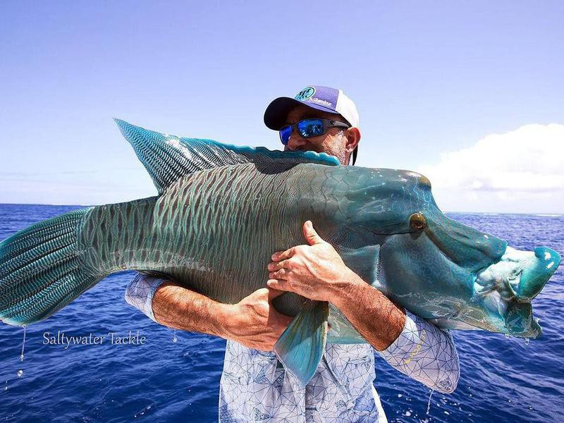 Saltwater fishing in New Caledonia in the South Pacific