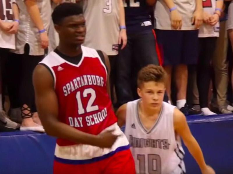 Zion Williamson at Spartanburg Day School
