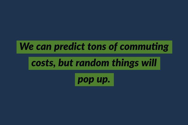 commuting unforeseen costs