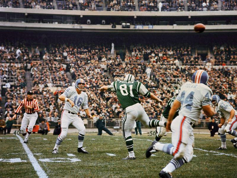 Houston Oilers quarterback George Blanda