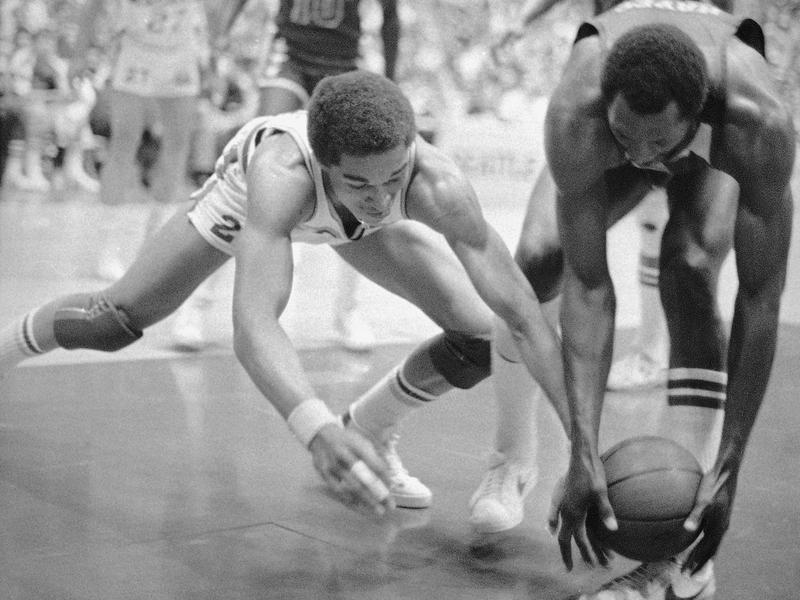 Dennis Johnson and Elvin Hayes