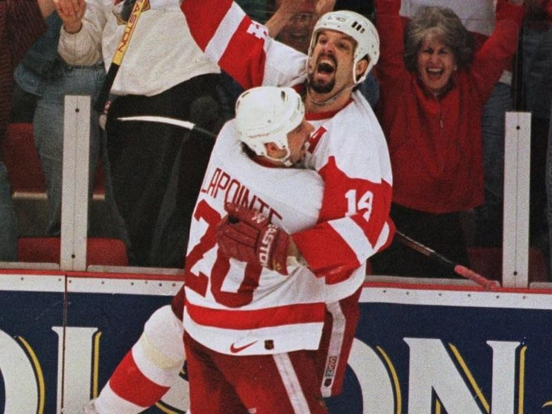 Brendan Shanahan with the Red Wings