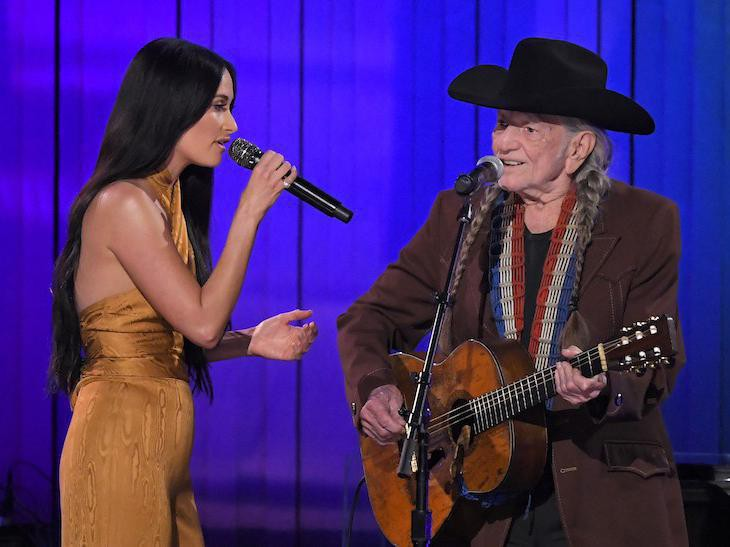 Kasey Musgraves and Willie Nelson