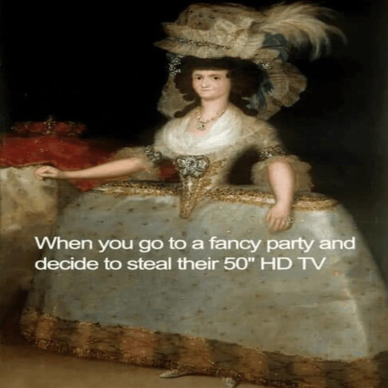 French court fashion meme