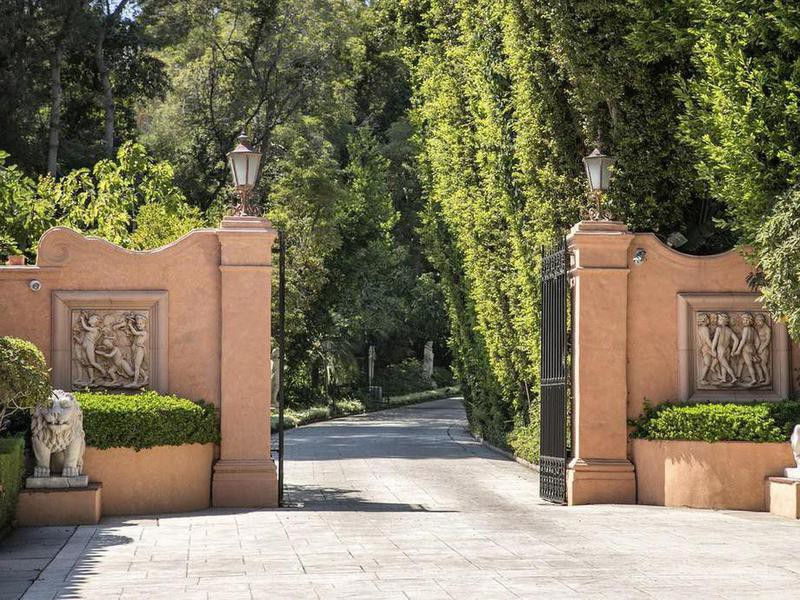 Large gated driveway