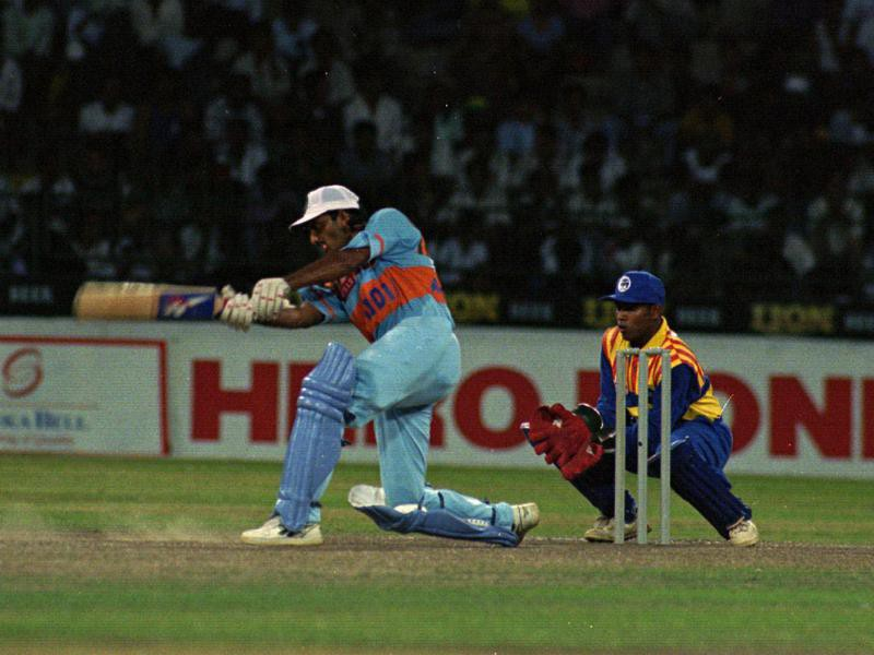 Mohammed Azharuddin plays a stroke