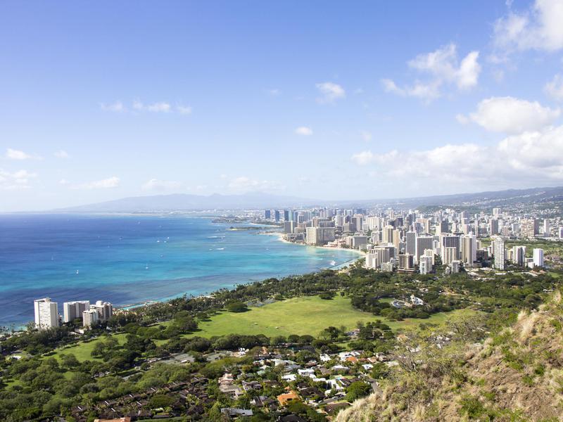Skyline of Honolulu, Hawaii