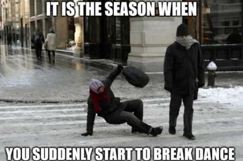 Winter breakdancing
