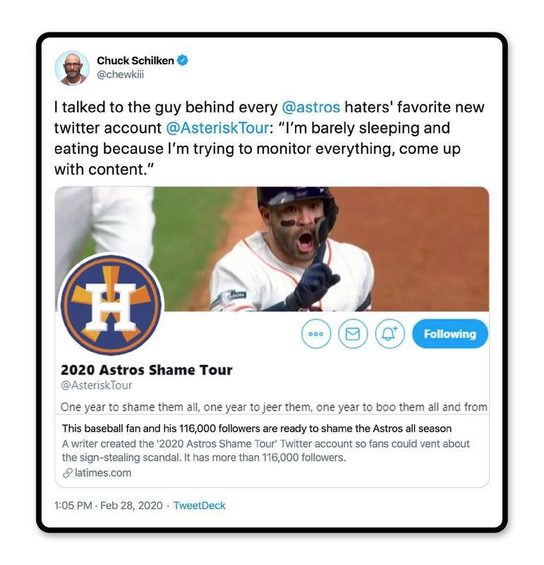 2020 Astros shame tour