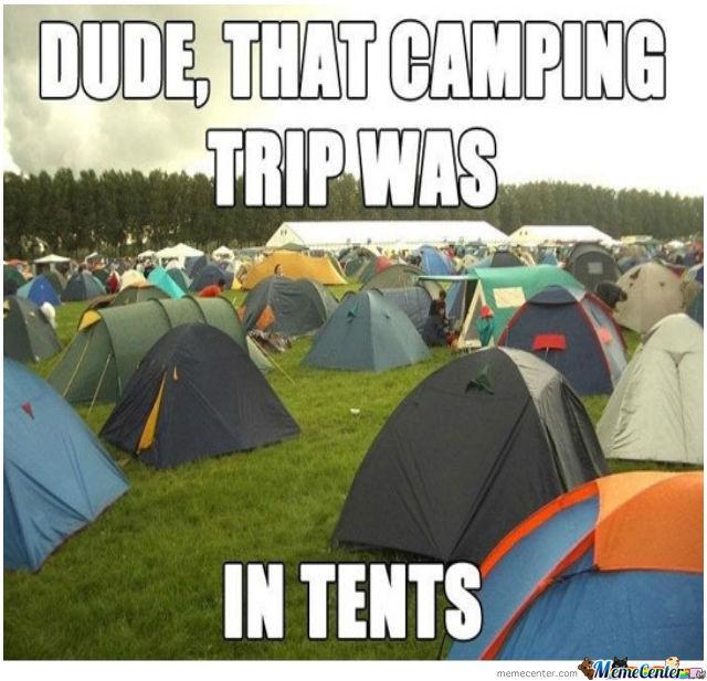 Funny tent pun meme
