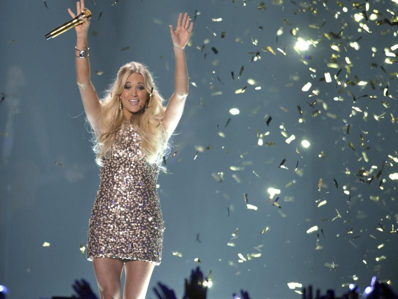 Carrie Underwood performs at the  CMT Music Awards in Nashville, Tennessee, in 2012.