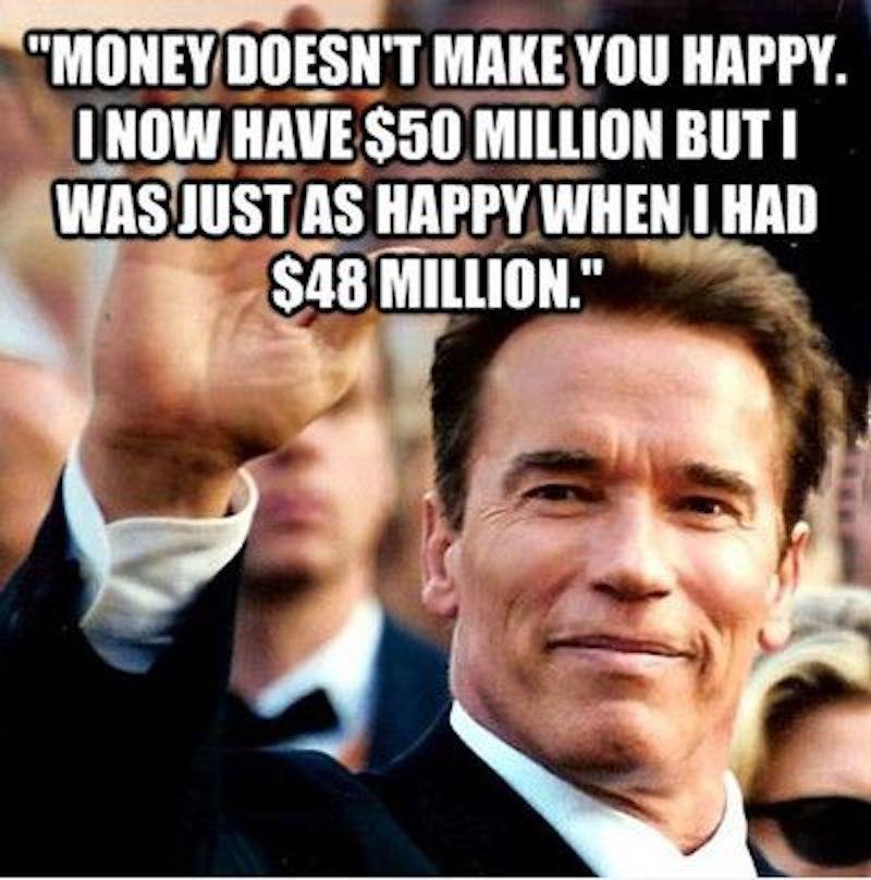 Arnold Schwarzenegger the millionaire