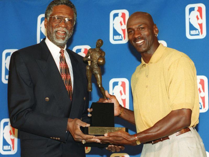 Bill Russell and Michael Jordan