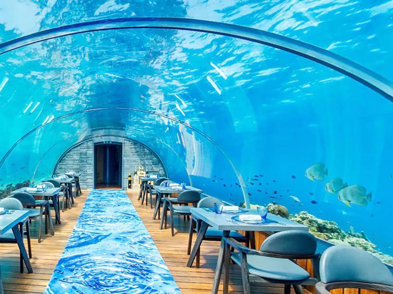 Hurawalhi's 5.8 Undersea Restaurant