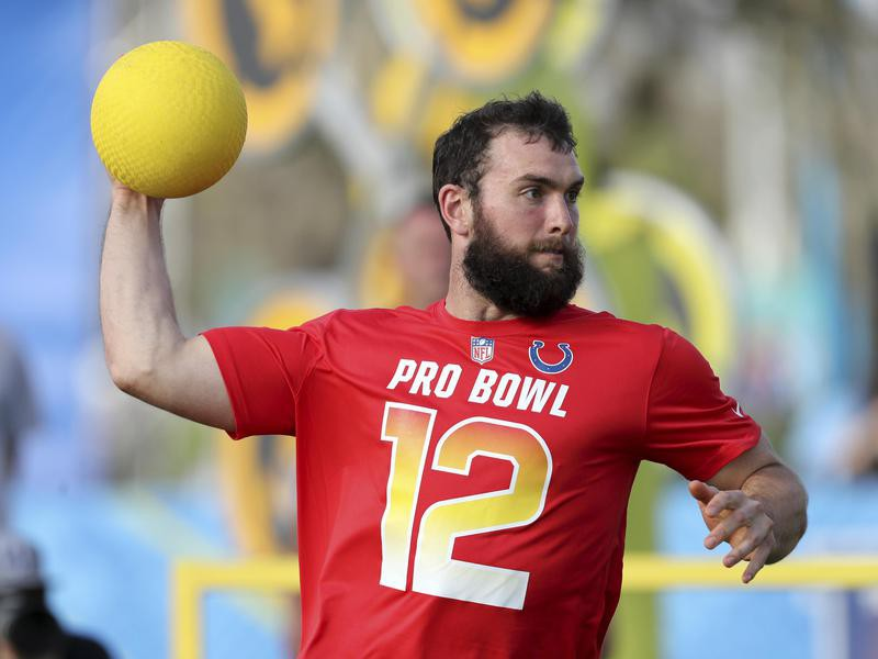 Andrew Luck in action at Epic Pro dodgeball event
