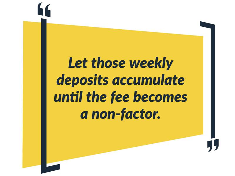 accumulate to fight fees