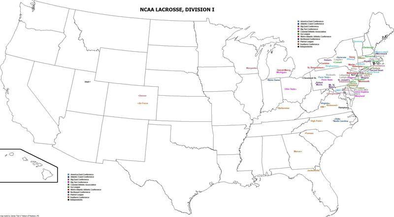 Division I lacrosse programs