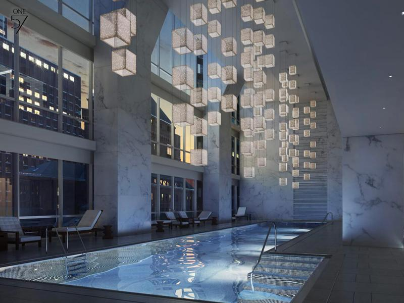 The One57 swimming pool