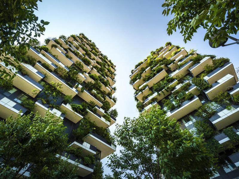 Bosco Vertical Tree Houses in Milan, Italy