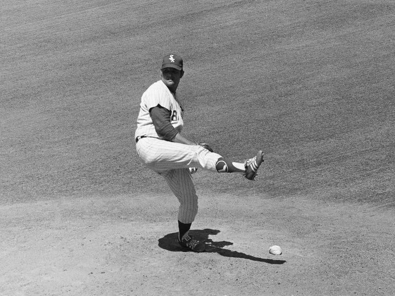Chicago White Sox pitcher Wilbur Wood in action
