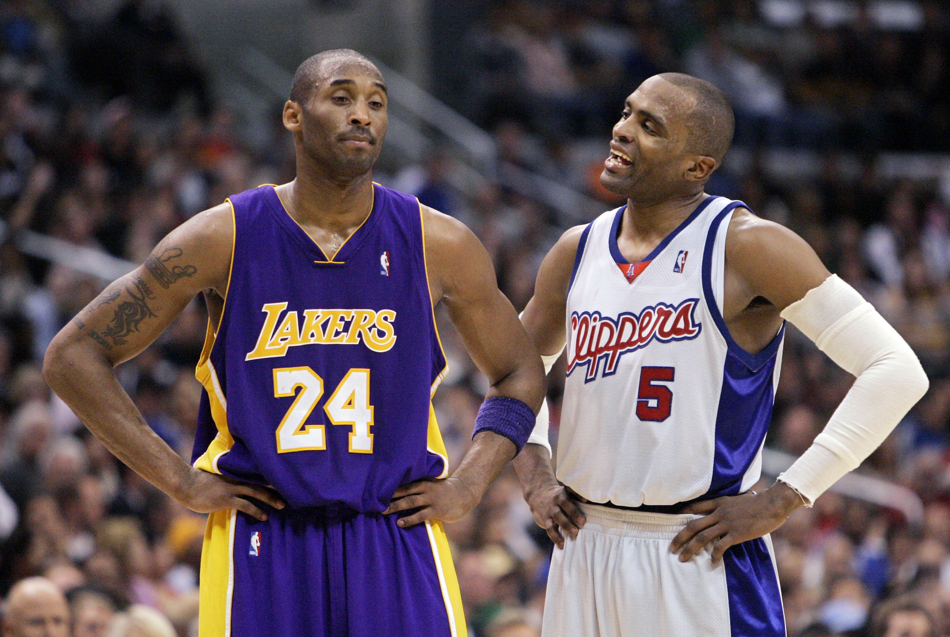 Kobe Bryant and Cuttino Mobley