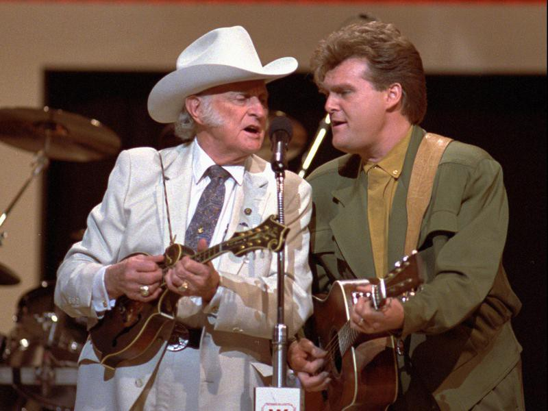 Bill Monroe and Ricky Skaggs