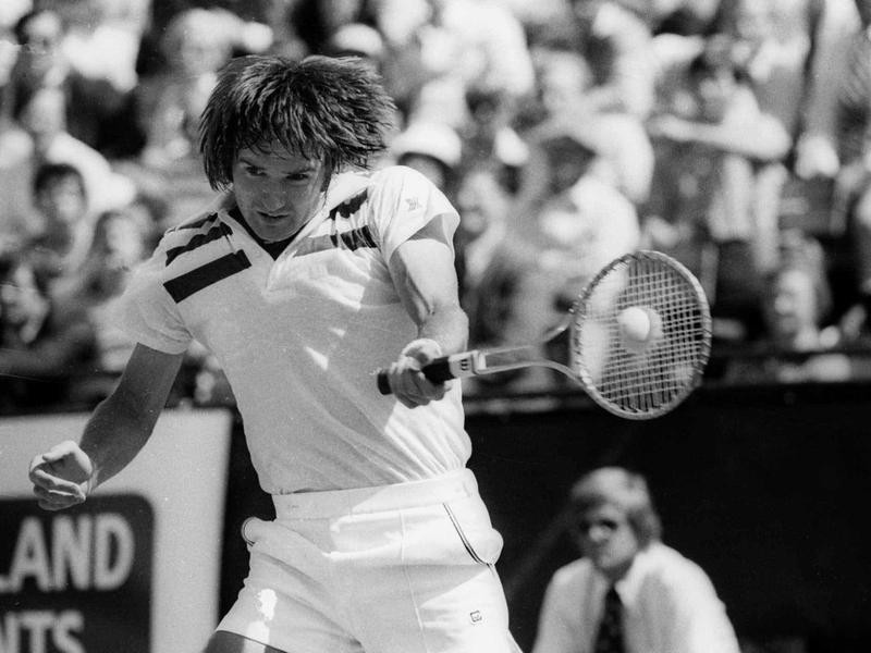 American tennis player Jimmy Connors