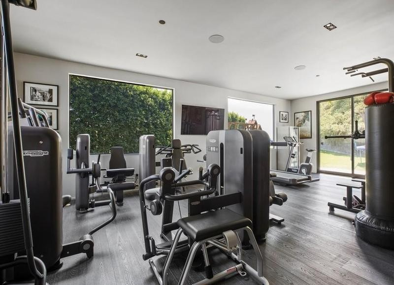 Workout area and gym