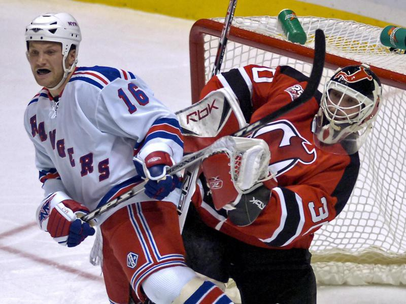 Sean Avery, left, and Martin Brodeur