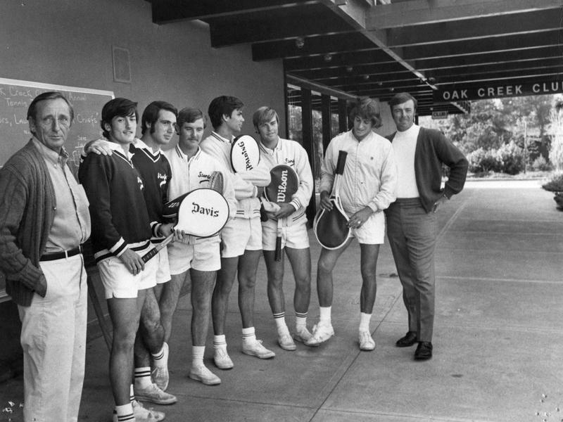 Dick Gould and Stanford men's tennis team