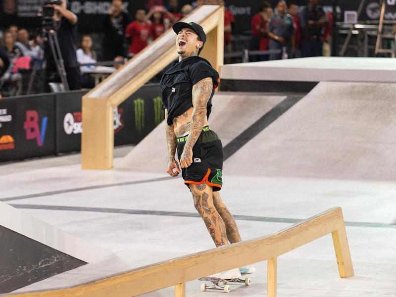 Nyjah Huston competing