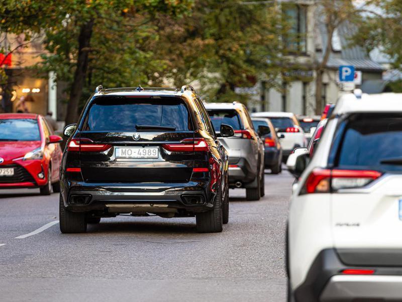 Traffic in Riga, Latvia