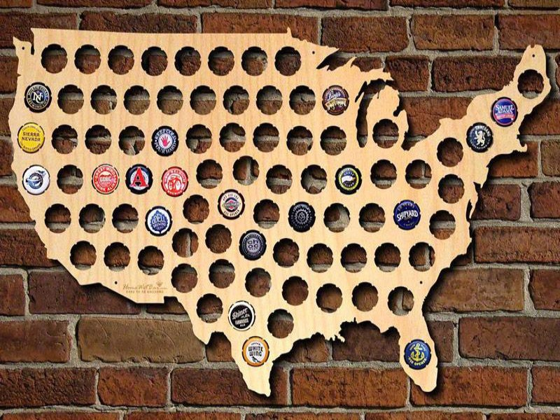 Beer map of the U.S.
