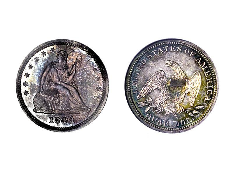 1844 Proof Liberty Seated Quarter